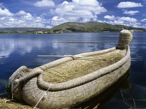 Reed Boat Uros Islands Lake Titicaca Peru