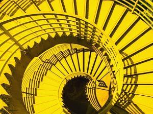 View from Above of Spiral Staircase by Reed Kaestner