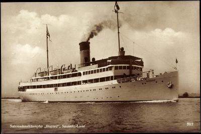 Reederei Braeunlich Stettin, Dampfer Rugard--Giclee Print
