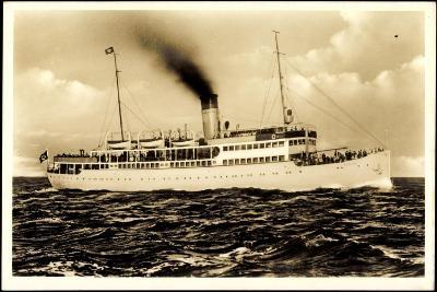 Reederei Braeunlich Stettin, Dampfschiff Rugard--Giclee Print
