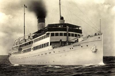 Reederei Braeunlich Stettin, S.S. Rugard, Dampfer--Giclee Print