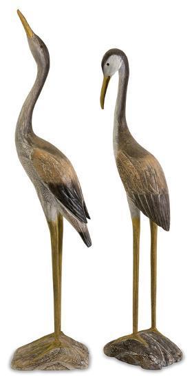 Reeds Wood Crane Pair--Home Accessories