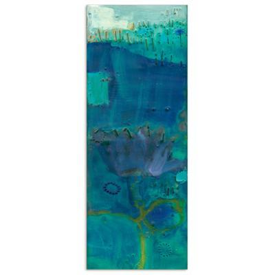 Reedy Blue III - Free Floating Tempered Glass Wall Art