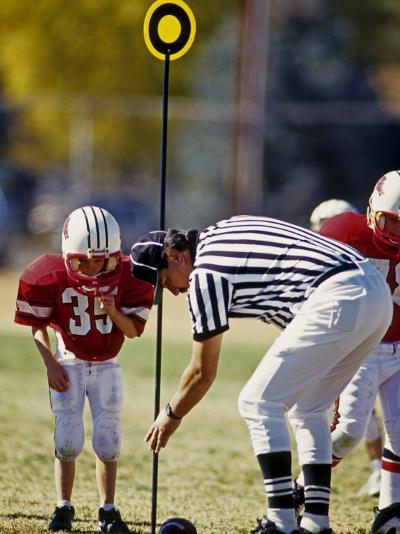 Referee Measuring for a First Down During a During a Pee Wee Football Game, Denver, Colorado, USA--Photographic Print