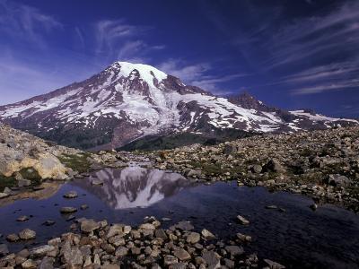 Reflection in Stream of Grinnel Glacier, Mt. Rainier National Park, Washington, USA-Jamie & Judy Wild-Photographic Print