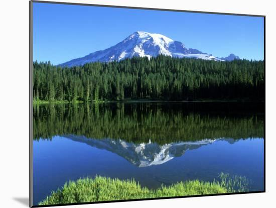 Reflection Lake, Mt. Rainier National Park, Washington, USA-Rob Tilley-Mounted Photographic Print