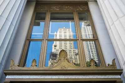 Reflection of a Building in a Window, New York City, New York, Usa-Julien McRoberts-Photographic Print