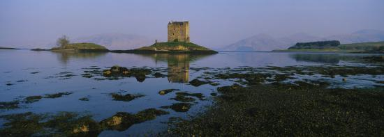 Reflection of a Castle in Water, Castle Stalker, Highlands, Scotland, United Kingdom--Photographic Print