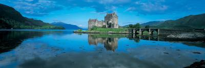 Reflection of a Castle in Water, Eilean Donan Castle, Loch Duich, Highlands, Scotland--Photographic Print