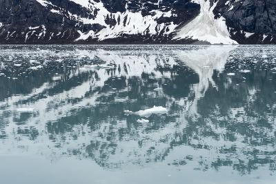 Reflection of a Glacier in the Ocean in Glacier Bay National Park-Ira Block-Photographic Print