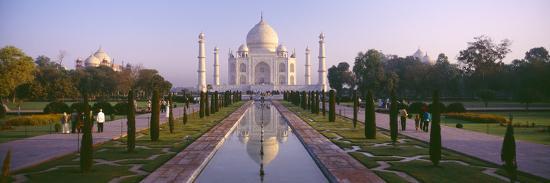 Reflection of a Mausoleum on Water, Taj Mahal, Agra, Uttar Pradesh, India--Photographic Print