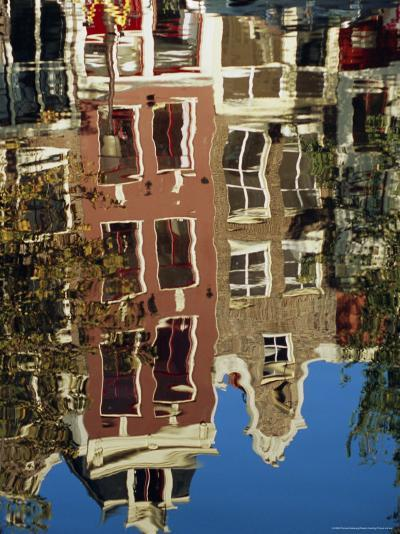 Reflection of Amsterdam Houses in Canal, Amsterdam, the Netherlands (Holland), Europe-Richard Nebesky-Photographic Print
