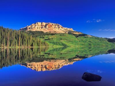 Reflection of Beartooth Butte into Beartooth Lake, Wyoming, USA-Chuck Haney-Photographic Print