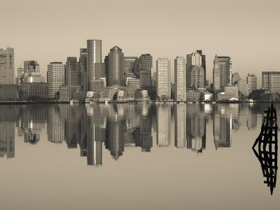 Reflection of Buildings in Water, Boston, Massachusetts, USA--Photographic Print