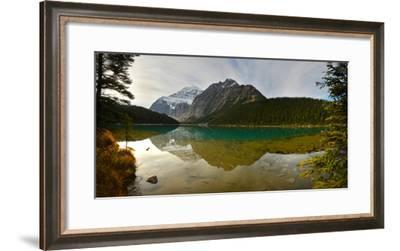 Reflection of Canadian Rockies on Edith Lake-Raul Touzon-Framed Photographic Print
