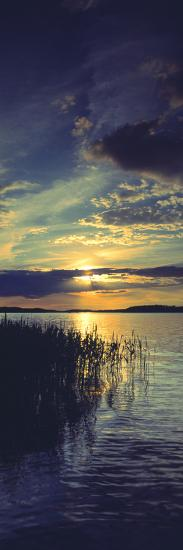 Reflection of Clouds in a Lake, Lake Saimaa, Joutseno, Finland--Photographic Print
