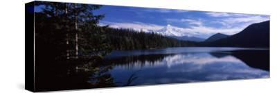Reflection of Clouds in Water, Mt Hood, Lost Lake, Mt. Hood National Forest, Hood River County