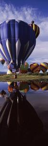 Reflection of Hot Air Balloons in a Lake, Hot Air Balloon Rodeo, Steamboat Springs, Routt County...