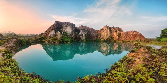Reflection of Mountain from Green Lake-Chee Keong Lee-Photographic Print