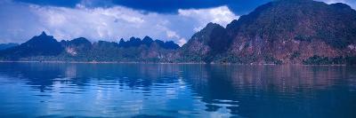 Reflection of Mountain on Water, Chiaw Lan Lake, Kao Sok National Park, Surat Thani Province--Photographic Print