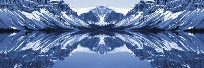 Reflection of Mountains in a Lake, Bow Lake, Banff National Park, Alberta, Canada--Photographic Print