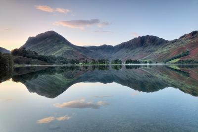 Reflection of Mountains in the Lake, Buttermere Lake, English Lake District, Cumbria, England--Photographic Print