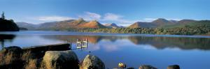 Reflection of Mountains in Water, Derwent Water, Lake District, England