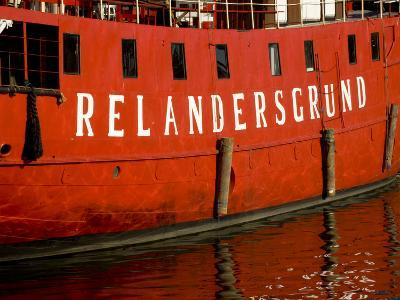 Reflection of Ship on Harbor, Helsinki, Finland-Nancy & Steve Ross-Photographic Print