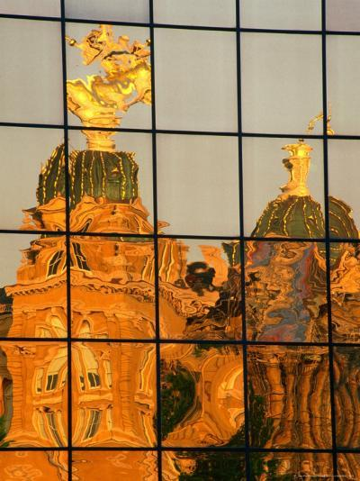 Reflection of the State Capitol Building, Iowa, USA-Richard Cummins-Photographic Print