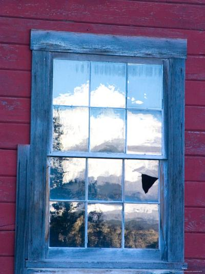 Reflection of the Wrangell Mountains in Copper Mine Window, Kennicott, Alaska, USA-Julie Eggers-Photographic Print