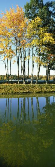 Reflection of Trees in a Lake, New England, USA--Photographic Print