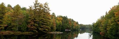 Reflection of Trees in the Musquash River, Muskoka, Ontario, Canada--Photographic Print