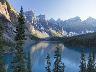 Reflections in Moraine Lake, Banff National Park, UNESCO World Heritage Site, Alberta, Rocky Mounta-Martin Child-Photographic Print
