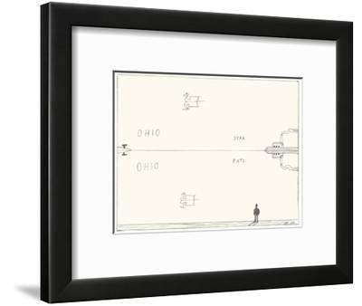 Reflections in sky and water. - New Yorker Cartoon-Saul Steinberg-Framed Premium Giclee Print