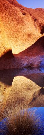 Reflections of Ayers Rock at Mutitjulu Waterhole, Uluru-Kata Tjuta National Park