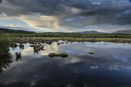 Reflections of Clouds in a Body of Water Near the Sawatch Mountains-Keith Ladzinski-Photographic Print