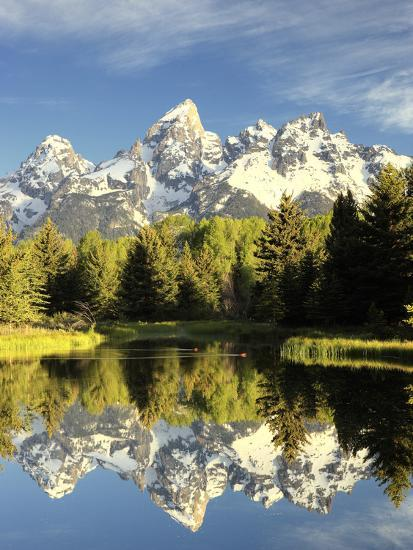 Reflections of Grand Teton Mountain in the Snake River-Robbie George-Photographic Print