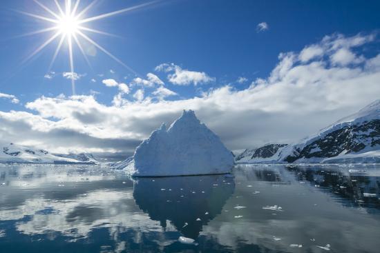 Reflections of Icebergs on Water in Niko Harbor, Antarctica-Ralph Lee Hopkins-Photographic Print