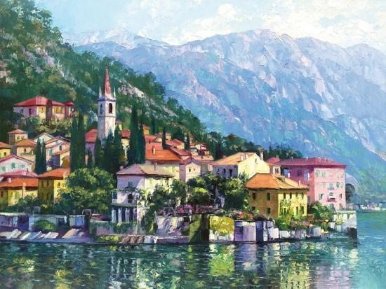 Reflections of Lake Como-Howard Behrens-Premium Giclee Print