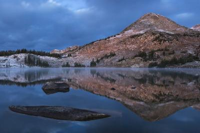 Reflections of Mountains on Libby Lake in the Medicine Bow-Routt National Forest-Drew Rush-Photographic Print
