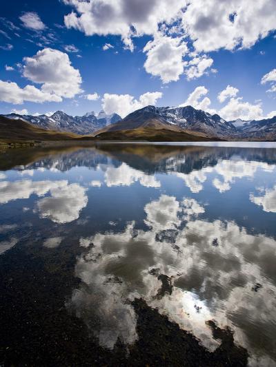 Reflections of Mt. Tuni Condoriri in the Cordillera Real, Bolivi-Sergio Ballivian-Photographic Print