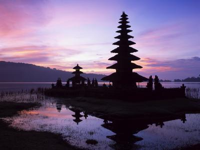 Reflections of the Candikuning Temple in the Water of Lake Bratan, Bali, Indonesia, Southeast Asia-Gavin Hellier-Photographic Print