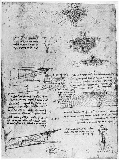 Reflections of the Sun on Water, Late 15th or Early 16th Century-Leonardo da Vinci-Giclee Print