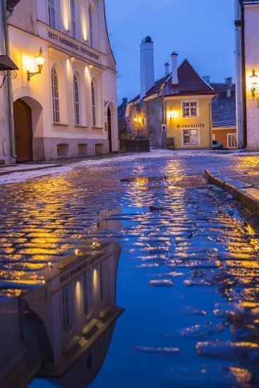 Reflections, Old Town, Tallinn, Estonia-Peter Adams-Photographic Print
