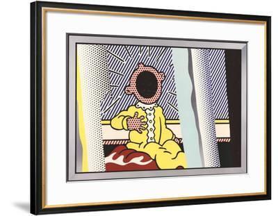 Reflections on the Scream-Roy Lichtenstein-Framed Art Print