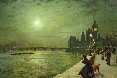 Reflections on the Thames, Westminster, 1880-John Atkinson Grimshaw-Giclee Print