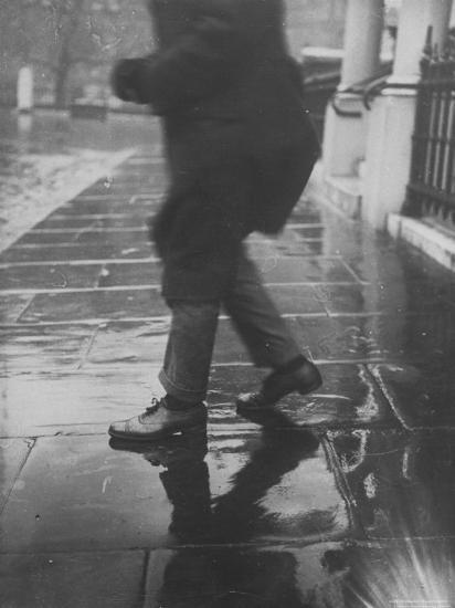 Reflections on Wet Pavement-Emil Otto Hopp?-Photographic Print