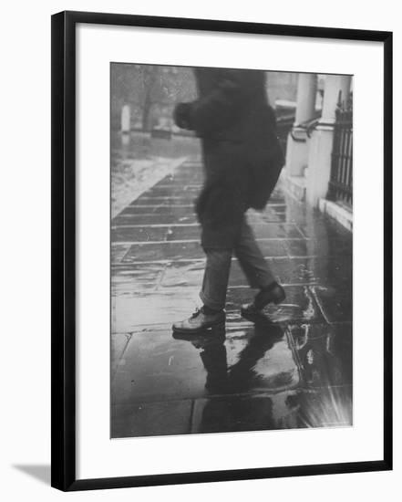 Reflections on Wet Pavement-Emil Otto Hoppé-Framed Photographic Print