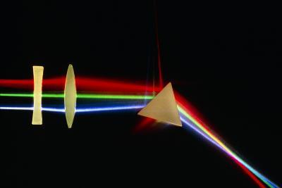 Refraction of Light by Lenses & a Prism-David Parker-Photographic Print