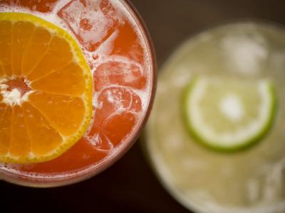 Refreshing Orange and Lime Cocktails-Rebecca Hale-Photographic Print